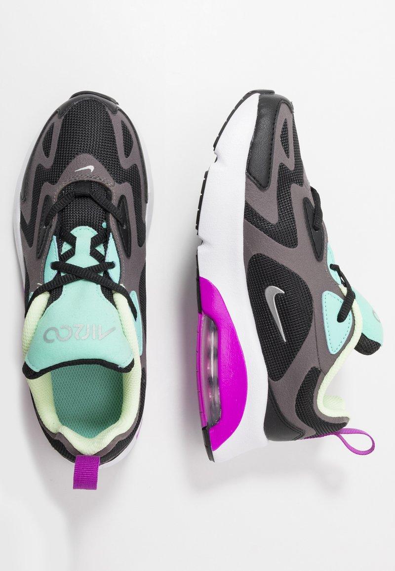 Nike Sportswear - NIKE AIR MAX 200 SCHUH FÜR JÜNGERE KINDER - Sneakers - black/metalic silver/thunder grey/aurora green/hyper violet/barely volt