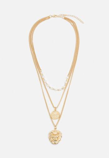 LION LAYERING NECKLACE UNISEX - Necklace - gold-coloured