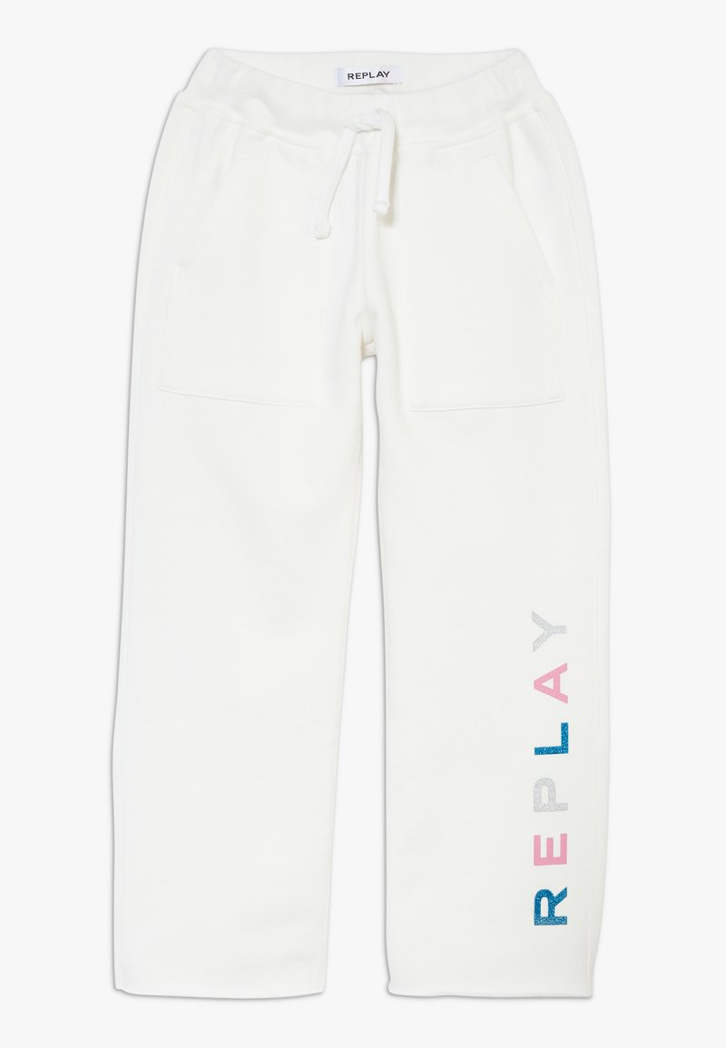 Replay - Tracksuit bottoms - white