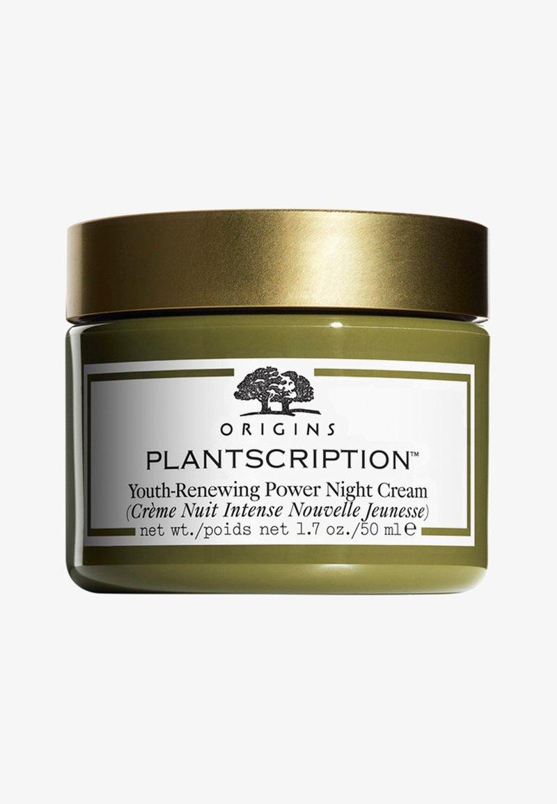 Origins - PLANTSCRIPTION YOUTH-RENEWING POWER NIGHT CREAM  - Nachtpflege - -
