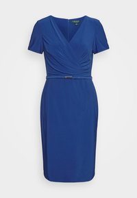 Lauren Ralph Lauren - ALEXIE SHORT SLEEVE DAY DRESS - Etuikjole - summer sapphire - 5