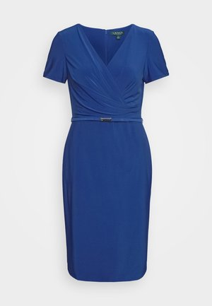 BONDED DRESS BELT - Shift dress - summer sapphire