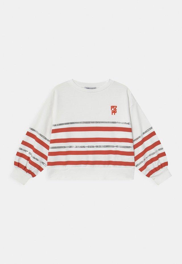 FELPA RIGATA - Sweatshirt - white
