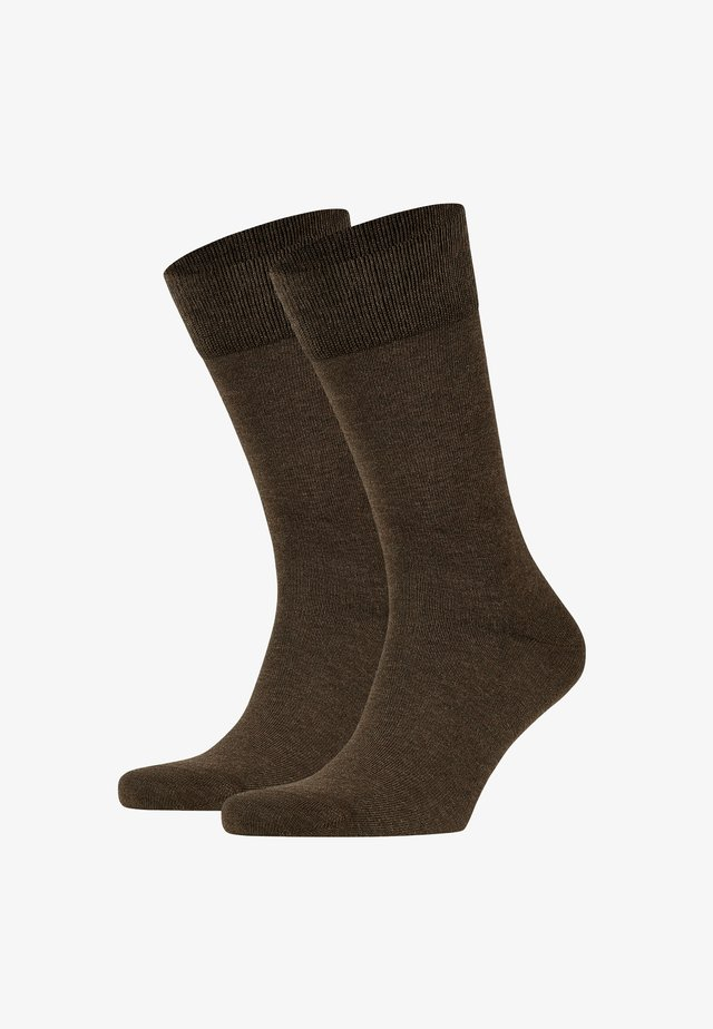 Happy 2-Pack Socks - Socks - brown