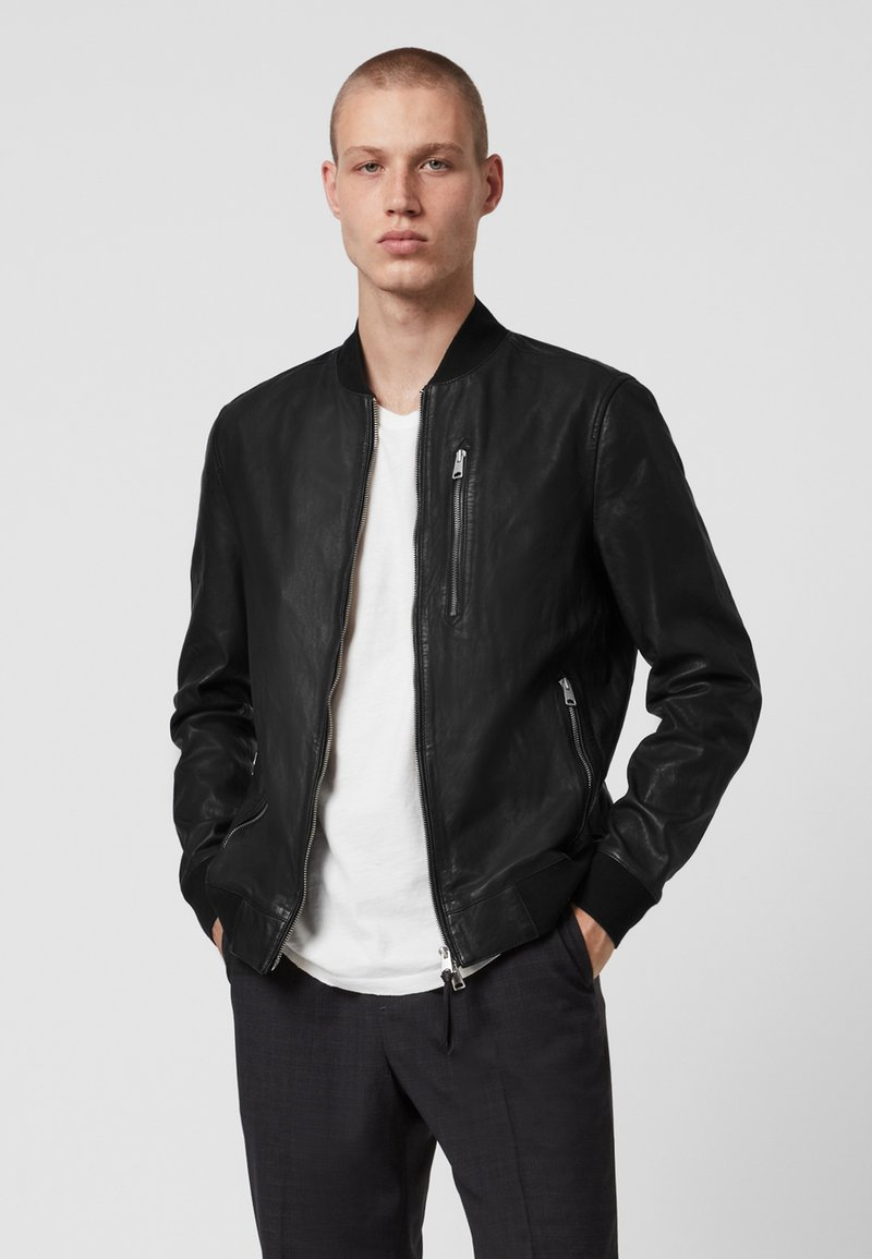AllSaints - Leather jacket - black