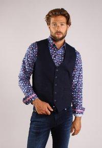 Gabbiano - Suit waistcoat - denim - 0