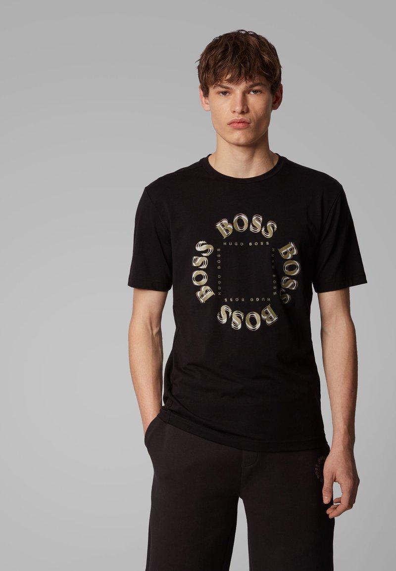BOSS - TEE 5 - Print T-shirt - anthracite