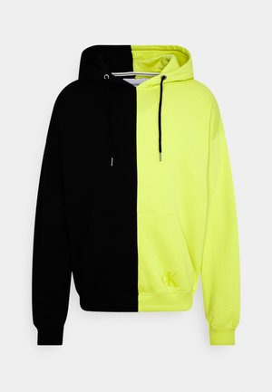 BLOCKING RELAXED FIT UNISEX - Hoodie - lime zing/black