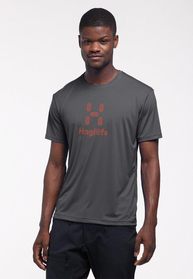 Print T-shirt - slate