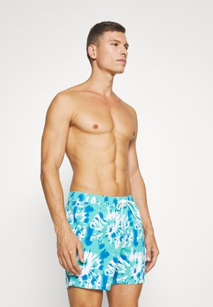 TIE DYE PRINT TRUNK - Swimming shorts - green/blue