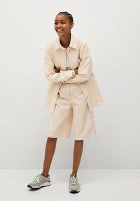 Mango - TRAVELER - Faux leather jacket - écru - 1