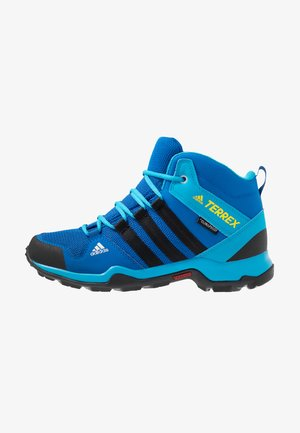 TERREX AX2R MID CLIMAPROOF HIKING SHOES - Trekingové boty - blue beauty/core black/shock yellow