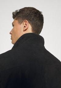 Selected Homme - SLHICONIC BLOUSON - Kožená bunda - black - 5