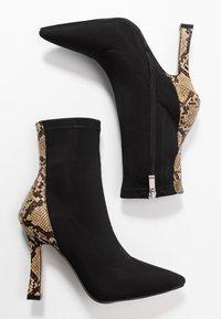 RAID - OLINIA - High heeled ankle boots - black/beige - 3