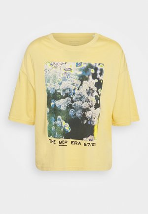 SHORT SLEEVE - Print T-shirt - yellow