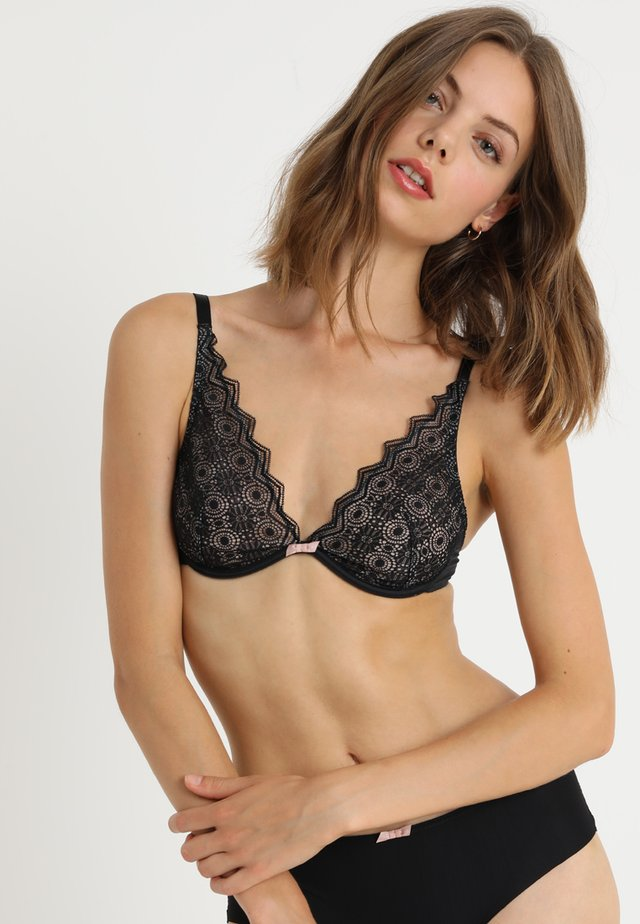 GEORGIA - Triangle bra - black