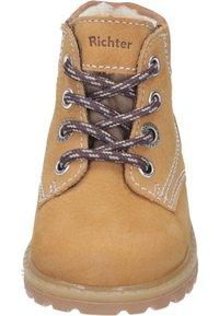 Richter - Lace-up ankle boots - curry/cognac - 4