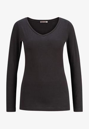 CLARA-V - Long sleeved top - black