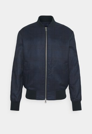 CHECK JACKET - Giubbotto Bomber - navy