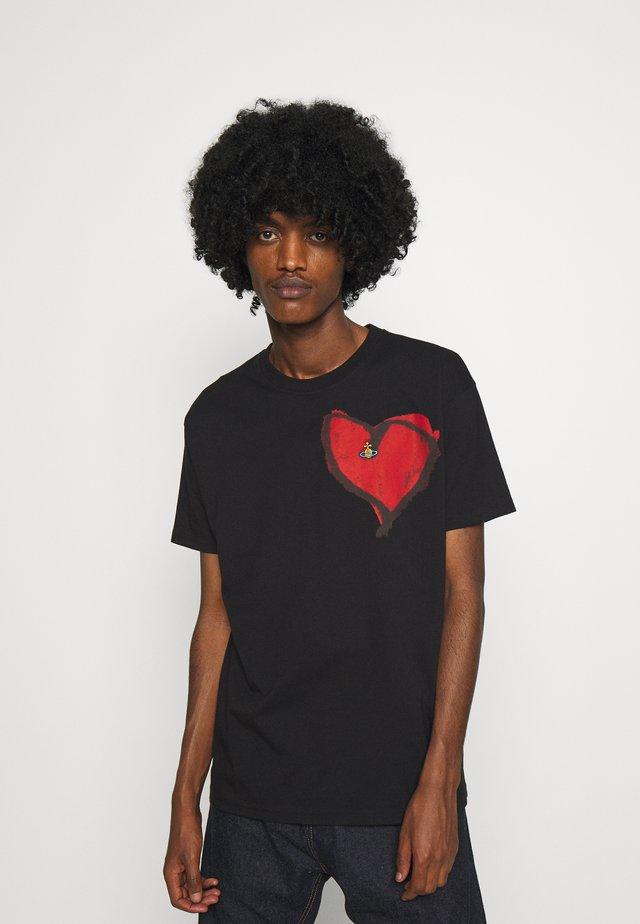HEART CLASSIC - T-shirts med print - black