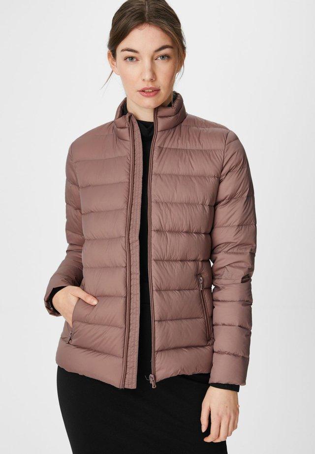Down jacket - dunkelrosa