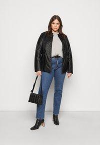 Evans - JACKET - Faux leather jacket - black - 1