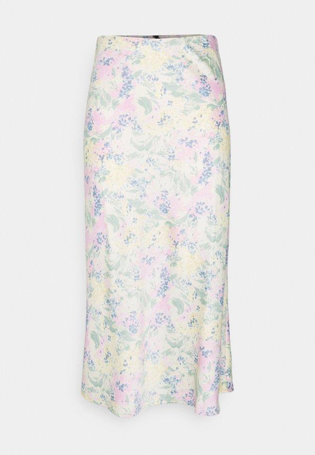 YASDOTTEA MIDI SKIRT - Áčková sukně - gardenia/dottea