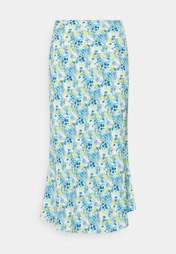 MIDI SKIRT - Pouzdrová sukně - blue/yellow