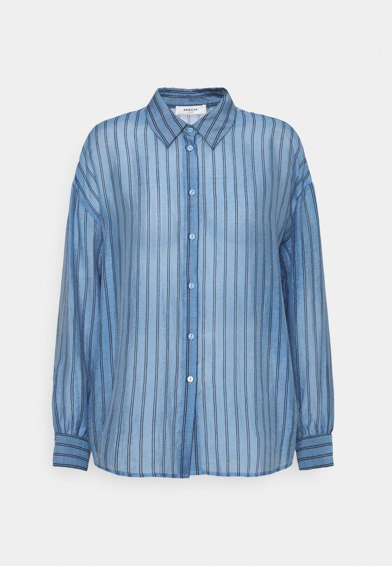 Moss Copenhagen - ABELLE - Button-down blouse - lake blue