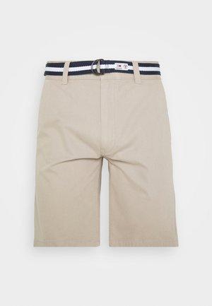 BELTED CHINO SHORT - Shorts - stone