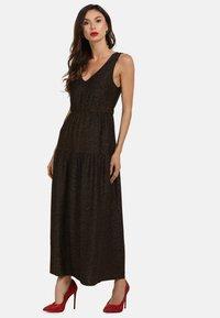 faina - Maxi dress - schwarz gold - 1