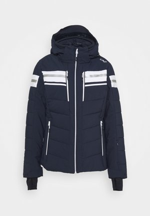 WOMAN JACKET ZIP HOOD - Ski jacket - black blue