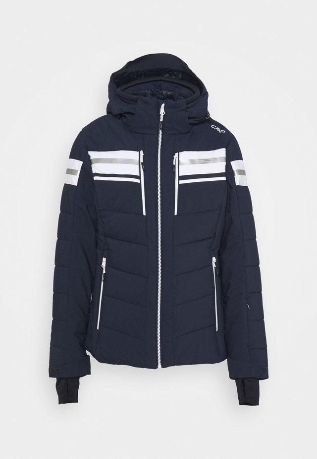 WOMAN JACKET ZIP HOOD - Veste de ski - black blue