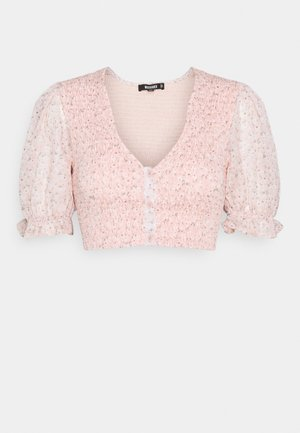 DITSY PUFF SLEEVE SHIRRED - Blouse - salmon