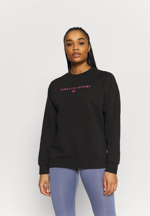 TANISHA TAPE CREW - Sweatshirt - black