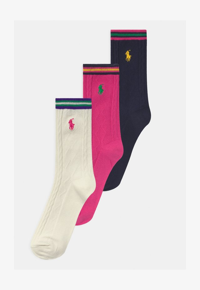 CREW 3 PACK - Calze - pink/white/navy
