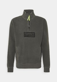 Tommy Jeans - TONAL LOGO ZIP MOCK UNISEX - Felpa - black - 6