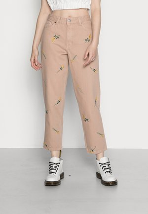 TAIKI JEANS EMBROIDERY - Straight leg jeans - beige embroidery