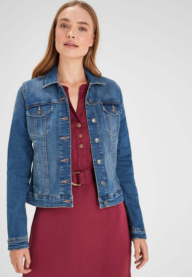 Next - PETITE - Denim jacket - royal blue