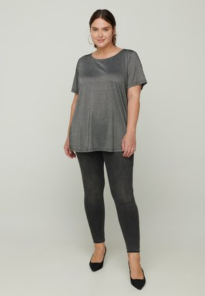 SPARKLY  - Basic T-shirt - black
