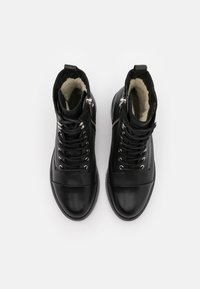 Pavement - CHARLEY  - Lace-up ankle boots - black garda/silver - 5