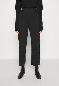 ARKET - WIDE LEGGED TROUSER - Trousers - black - 0