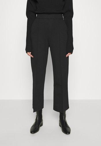 WIDE LEGGED TROUSER - Trousers - black