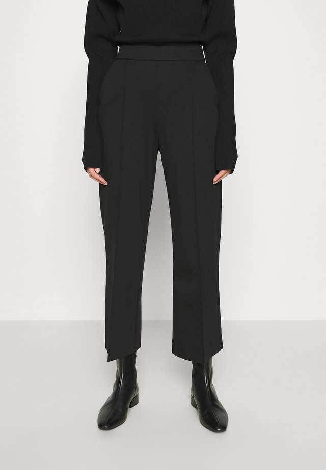 WIDE LEGGED TROUSER - Broek - black