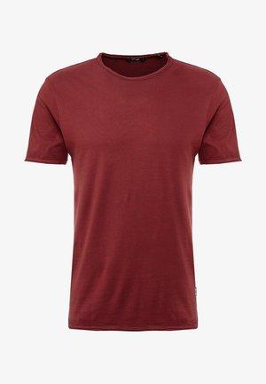 ONSALBERT WASHED O-NECK - T-shirt basic - zinfandel