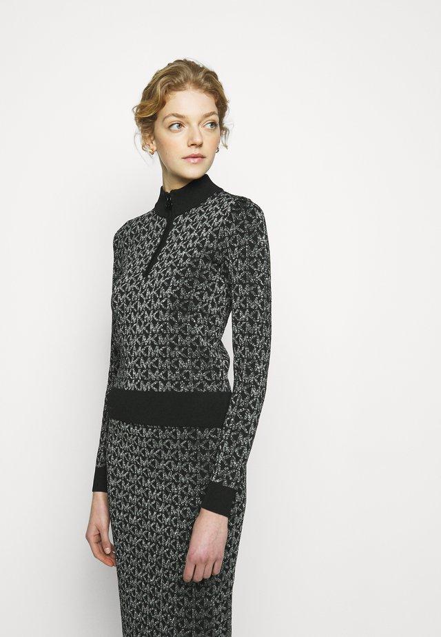HALF ZIP - Pullover - black/silver