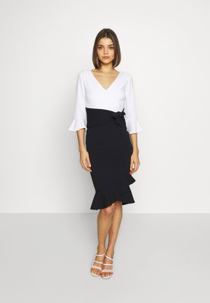 EMMIE - Cocktail dress / Party dress - black/white