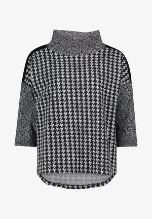 MIT HOHEM KRAGEN - Sweatshirt - schwarz/weiß