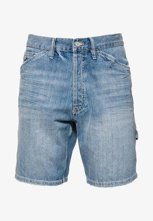 EARL WORKER - Denim shorts - blue