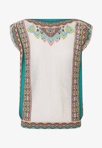Ivko - INTARSIA PATTERN - Print T-shirt - off-white - 3